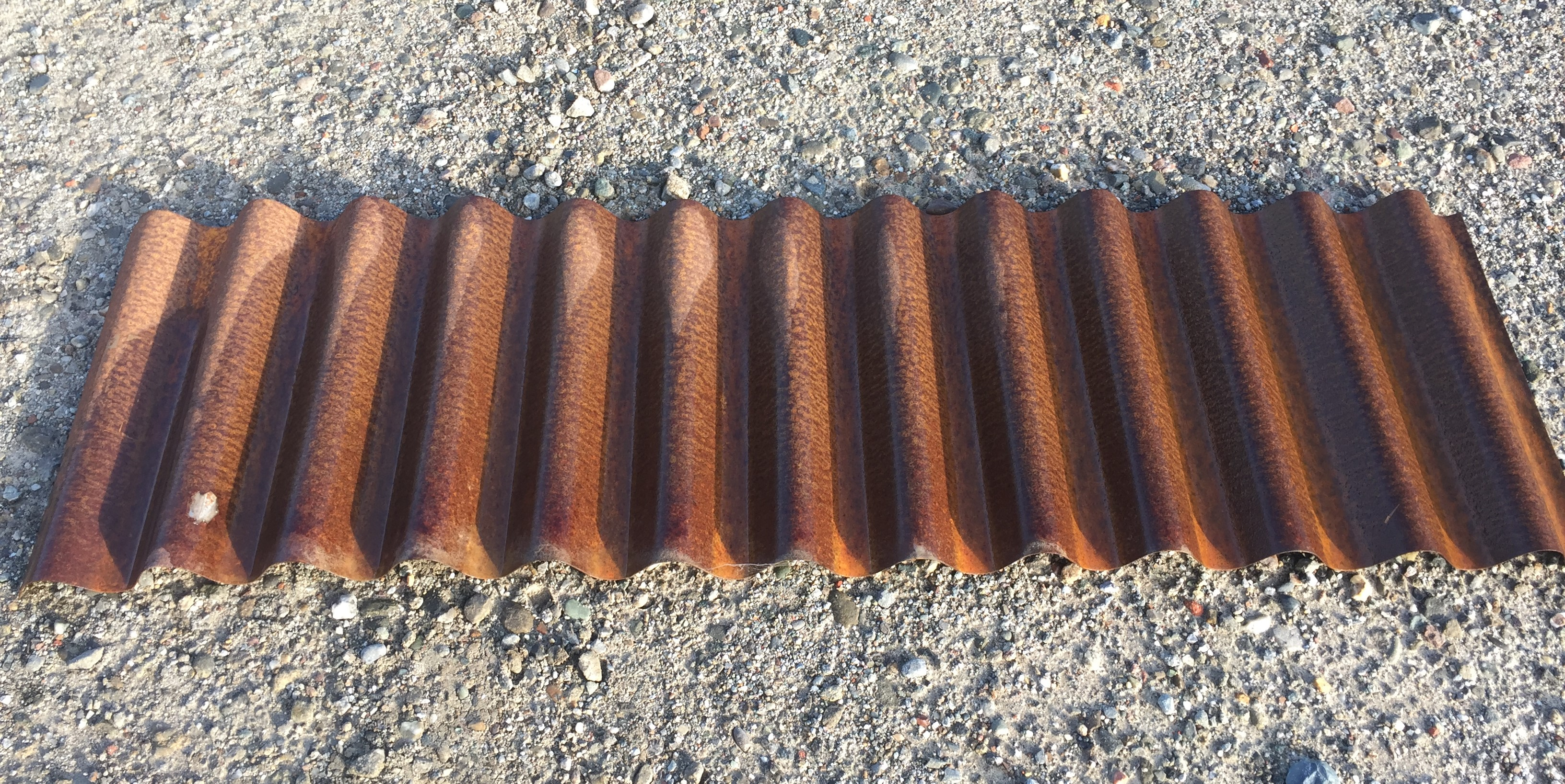 7/8u2033 Deep Rusted / Weathering Steel U2013 Roof Or Wall Panel